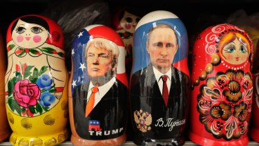 Russian dolls: Donald Trump and  Vladimir Putin.