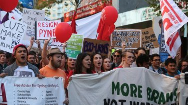 The right to protest: Funding matters, cuts matter, universities matter.