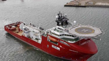 The Customs and  Border Protection vessel the Ocean Protector in a file picture.