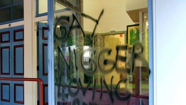 An overnight graffiti attack on Labor MP Curtis Pitt's office in Gordonvale, far north Queensland.