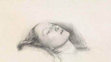 True to life ... John Everett Millais's study of Elizabeth Siddal for his painting <i>Ophelia</i>.