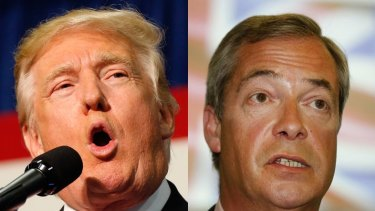 Do they speak for the working class? Donald Trump and Nigel Farage.