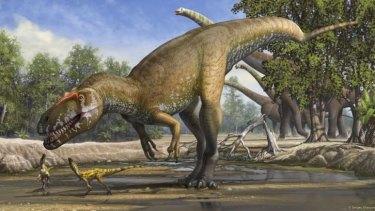 An artist's impression of the newly identified Torvosaurus gurneyi.