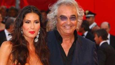 Flavio Briatore with his Italian model wife, Elisabetta Gregoraci.