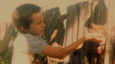 Julian Assange as a boy.