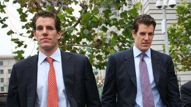Not happy ... Cameron and Tyler Winklevoss.