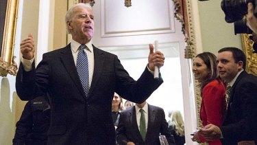 Done deal ... US vice-president Joe Biden,