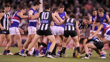 Peak hour: Space has become increasingly hard to find during AFL games.