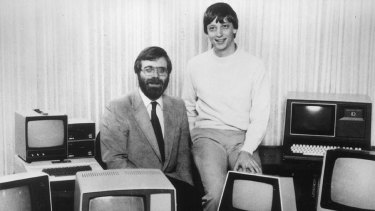 Paul Allen and Bill Gates in the early days of Microsoft.