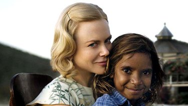 Nicole Kidman and Brandon Walters, who star in Baz Luhrmann's Australia.