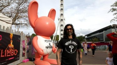 Stormie Mills, the brainchild and artist behind the popular giant pink bunnies.