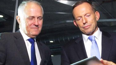 Working in tandem: Malcolm Turnbull, left, and Tony Abbott.