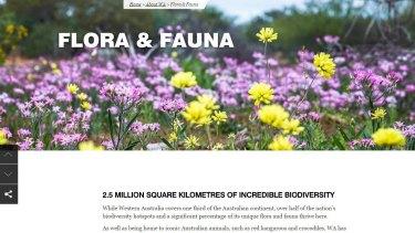 WA relies on its biodiversity as a major tourism drawcard.