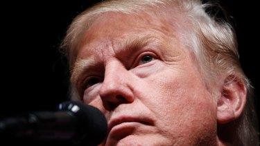 Republican presidential candidate Donald Trump in Bangor, Maine.