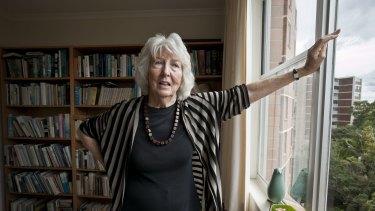 Author Elizabeth Harrower at her house in Cremorne.