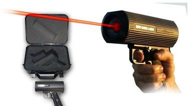 Hi-tech harrassment: laser option from Bird Gard Australia.