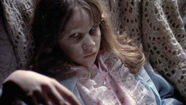 Linda Blair as a teen in <i>The Exorcist</i>.