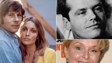 Above left: Polanski in the 1960s with his wife, Sharon Tate. Above right: Samantha Geimer, who was 13 when Polanski had sex with her in 1977. Top: Jack Nicholson, in whose home the crime occurred.