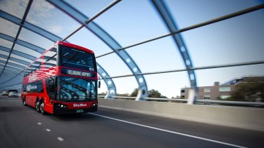 The Skybus: the closest thing we have to a rail link.
