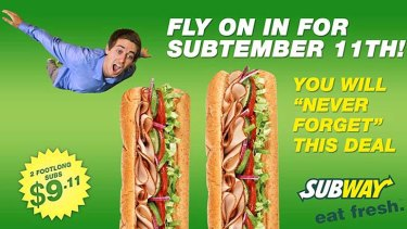 Subway advert: the company copped a backlash.