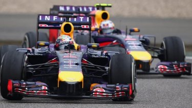Red Bull Racing teammates Sebastian Vettel and Daniel Ricciardo have been in direct competition this season.
