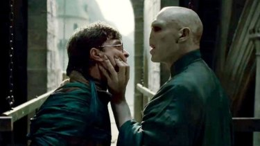 Nose for trouble ... Harry Potter's battles against the evil Voldemort may have a positive effect on readers.