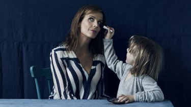 Woman of conviction … Rachel Griffiths gets some attention from her daughter Clementine.