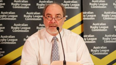 ARLC Chairman John Grant at the announcement of David Gallop's retirement.