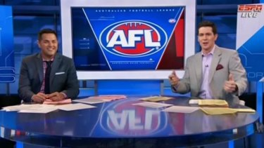 Watch Espn Sportscenter Anchors Try To Explain Afl Blend Of Rugby And Mugging Someone