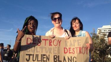 Protesters who shut down a RSD seminar in 2014.