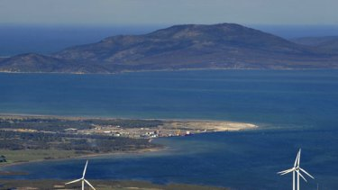 Export options - Barry Beach and Port Anthony are in the centre and Wilsons Promontory in the background.