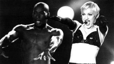 Madonna on her 1993 Australian tour.