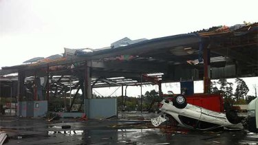The aftermath in Auckland after the damaging tornado struck.