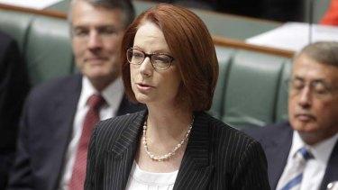 Losing popularity ... Julia Gillard.