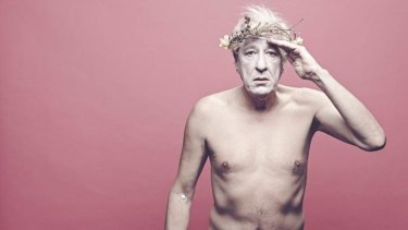 Geoffrey Rush bares all in an image that sent the Sydney Theatre Company's website into meltdown.
