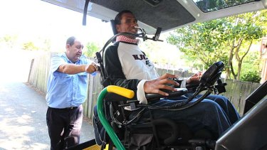 Struggling to afford one taxi ride a week: Quadriplegic Mark Tonga.