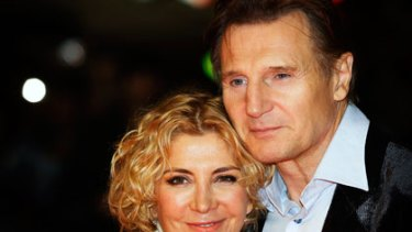 The late Natasha Richardson with her husband, fellow actor, Liam Neeson.