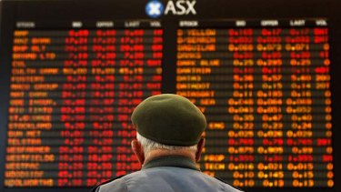 Sea of red ... Australian shares in firing line after bleak day on US and European stockmarkets.