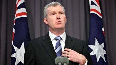 Immigration Minister Tony Burke.