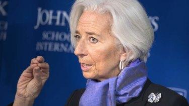 International Monetary Fund managing director Christine Lagarde .