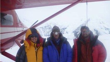 Three to peak   ... Bridie Campbell, Gavin Marshall and Hugh Ward.