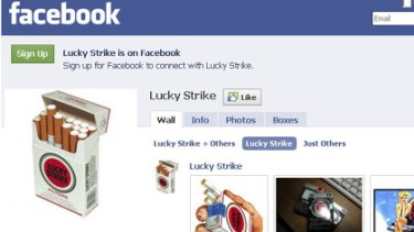 Homage or promotion?... a fan page for Lucky Strike.