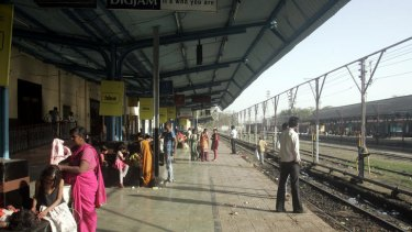 Khandwa Railway Station, India, from where Saroo and his brother Guddu began their ill-fated journey.