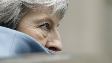 Britain's Prime Minister Theresa May has stepped up her effort to drive her MPs towards a stark, cliff-edge choice.