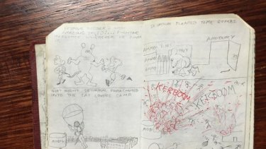 Seymour the mouse guns down his enemies in Julian Knight's chilling high school cartoon. Photo: Supplied
