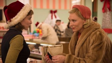 Rooney Mara and Cate Blanchett star in Todd Haynes' film <i>Carol</i>.