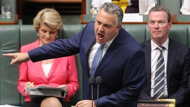 """""""Either you're here, or you're not"""": Treasurer Joe Hockey."""