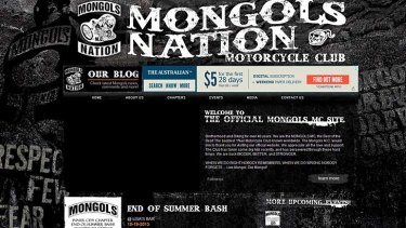 A screenshot of the Mongols' webpage.