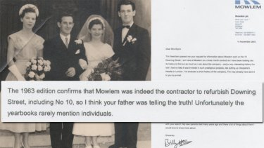 Patrick Glynn's wedding day - and the letter that confirms John Mowlem's involvement with No. 10 Downing Street.