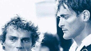 Harold Hopkins (left) and John Howard in a scene from <i>The Club</i>.